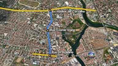 Corredor exclusivo para ônibus e táxis começa a funcionar segunda em Afogados - Trecho de um 1,6 km fica na Rua Cosme Viana entre a Avenida Abdias de Carvalho e a Rua Doutor Adelino.
