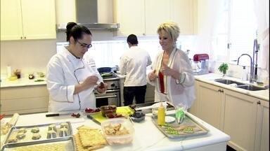 Ana Maria mostra a cozinha de sua casa em São Paulo - Equipe do Mais Você prepara quitutes para a apresentadora