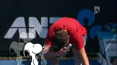 Onda de calor no Australian Open faz atleta enxergar 'Snoopy' - Palavras do próprio!