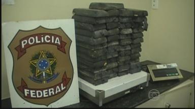 PF apreende 50 quilos de pasta-base de cocaína no Grande Recife - Droga foi encontrada escondida em fundo falso de um caminhão que passava pelo Cabo de Santo Agostinho.