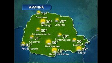 Londrina pode ter chuvas isoladas nesta sexta-feira - Veja a previsão do tempo completa no mapa.