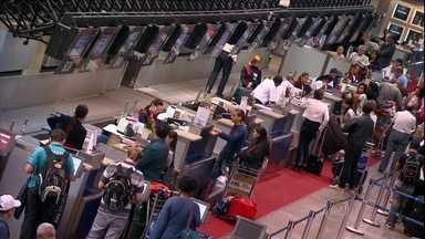 Falta de assistência das empresas é a principal queixa nos aeroportos de SP - Só nos aeroportos de Congonhas e Guarulhos, foram registradas mais de 3.600 reclamações em 2013. No entanto, a maior parte dos passageiros não sabe onde fazer as queixas.