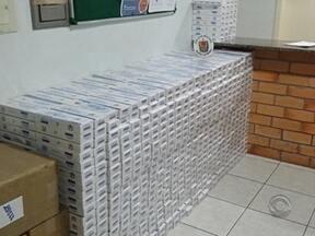 Polícia apreende cigarros contrabandeados no Oeste de SC - Polícia apreende cigarros contrabandeados no Oeste de SC