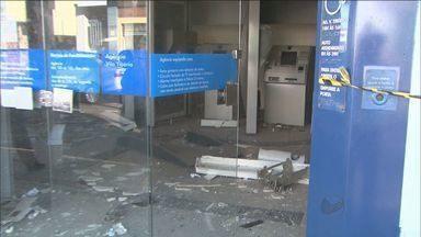 Caixa eletrônico é alvo de bandidos em Ribeirão Preto, SP - Explosão aconteceu na madrugada desta terça-feira (21) em agência na Vila Tibério