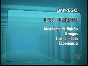 Veja as vagas de empregos disponíveis - Oportunidades são para a região Presidente Prudente.