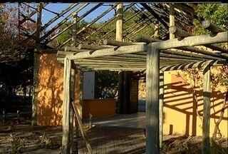 Reserva ambiental de Cabo Frio, RJ, está à mercê de vândalos - Moradores das redondezas reclamam de usuários de drogas e marginais.Segundo gestor do parque, já estão sendo feitos planos de reforma.