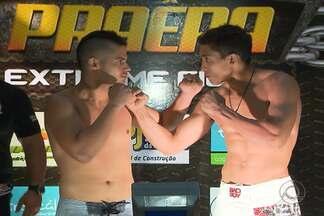 Veja como foi a pesagem para o 'Extreme Fight' - Evento acontece na noite desta terça-feira, no Ginásio Ronaldão, em João Pessoa.