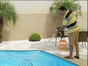 Veja os cuidados com a água da sua piscina para evitar dengue e outras doenças - Bactérias e fungos podem ser transmitidos se a água não for bem tratada.