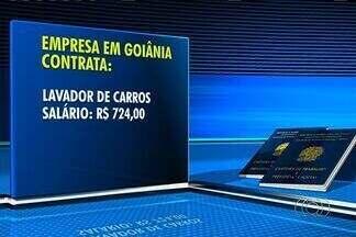 Confira as vagas de emprego em Goiânia - Empresa contrata lavador de carros e auxiliar de estoque, dentre outros.