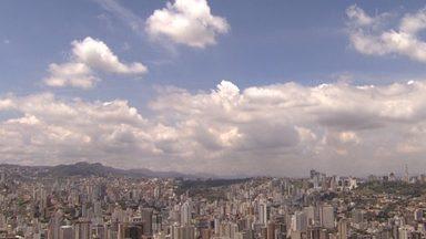 Belo Horizonte tem dia de sol entre nuvens - Temperatura máxima pode chegar aos 31ºC na capital mineira.