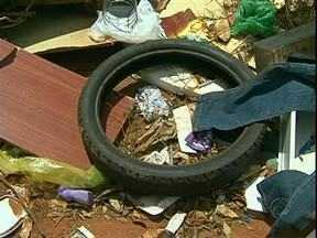 Mesmo com epidemia de dengue na região terreno vira lixão em Umuarama - Moradores reclamam que terrenos viraram depósitos de lixo em Umuarama, aumentando o risco de dengue.