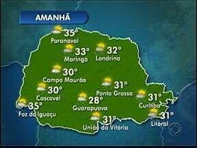 Tempo instável nos Campos Gerais - Deve chover no fim da tarde.