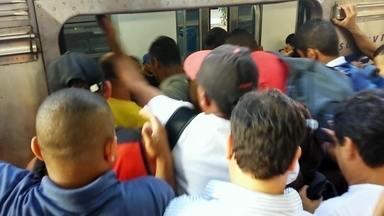 Fantástico mostra o sufoco dos trabalhadores nos trens urbanos do Brasil - O Fantástico se espremeu na multidão e entrou nos trens que atendem regiões metropolitanas de São Paulo e do Rio de Janeiro. Durante um mês, os repórteres do Fantástico viveram a lei da selva nas maiores cidade do país.