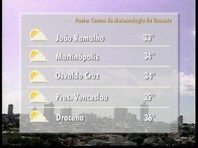 Massa de ar seco ganha força e mantém tempo aberto - Veja como ficam os termômetros na região de Presidente Prudente.