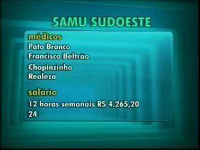SAMU abre concurso para médicos no sudoeste - Saiba como se inscrever. A contratação é temporária.