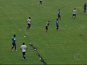 Chuva forte no Uberabão não atrapalha treinos do Nacional de Uberaba - Na reta final da preparação para Módulo II do Mineiro, comissão técnica aposta nos treinamentos para acertar a equipe