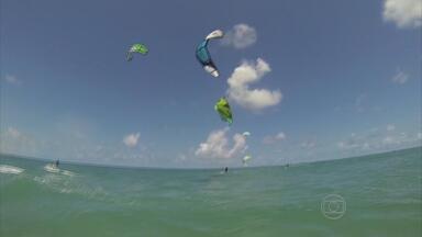 Pranchas e velas agitam litoral sul de Pernambuco no fim de semana - Competições de Stand Up Padle e Kite Surf são disputadas em Porto de Galinhas e Maracaípe