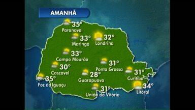 Janeiro termina com calorão em Londrina - Confira a previsão do tempo completa no mapa.