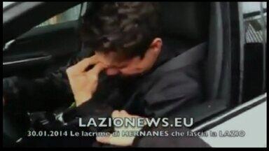 Profeta Hernanes se emociona em despedida do Lazio - De saída para o Inter de Milão, jogador chora ao encontrar torcedores do Lazio