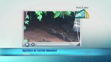 VC no MGTV: Morador reclama de problemas em córrego de Viçosa - Segundo ele, córrego Santo Antônio apresenta mau cheiro e risco de foco da dengue. Prefeitura não deu retorno sobre o problema.