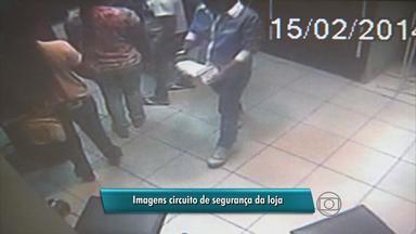 Quadrilha assalta loja de eletrônicos no centro do Recife - Em cerca de 9 minutos eles driblam vendedores e sistema de segurança e saem do local com equipamentos caros.