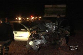 Motociclista morre em acidente na BR-316 em Timon - Segundo a PRF, piloto de moto teria tentado ultrapassagem proibida e bateu de frente com outro veículo.