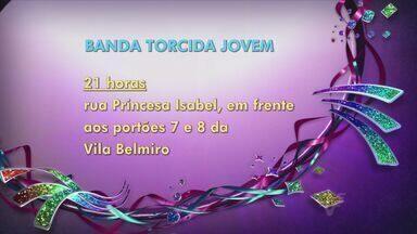 Bandas de carnaval desfilam nesta segunda (24) - Confira programação das bandas carnavalescas nesta segunda