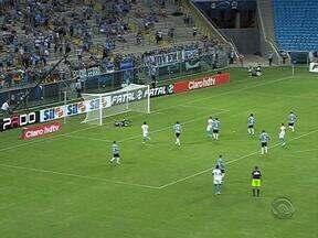 Grêmio venceu o Novo Hamburgo por 3 a 0 nesse sábado na Arena - Goleada inspirou a torcida para o jogo dessa terça-feira pela Libertadores.