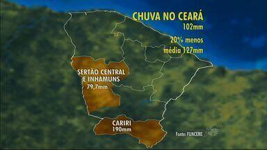 Funceme mantém previsão de chuvas abaixo da média no Ceará em 2014 - Ceará sofre com seca prolongada.