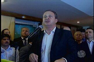 Eduardo Campos anuncia chapa estadual do PSB - O governador Eduardo Campos anunciou hoje os nomes dos três candidatos que vão disputar as eleições deste ano ao governador de Pernambuco e ao senado