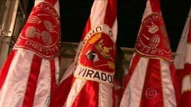 Salgueiro recebe Alegria da Zona Sul e a Viradouro - A quadra do Salgueiro foi o palco do encontro. As três escolas tem em comum as cores vermelho e branco.