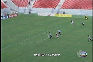 Náutico joga com o Porto na Arena Pernambuco - O Timbú não deu chance para o time de Caruaru e venceu por três a zero