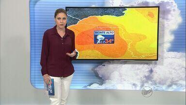 Veja a previsão do tempo para a região de Ribeirão Preto - Bebedouro teve forte chuva durante a madrugada desta terça-feira.