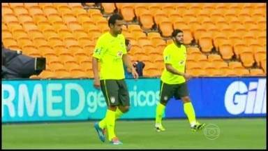 Seleção se prepara para enfrentar África do Sul - O amistoso será o último antes da convocação final da Copa do Mundo. O técnico Luiz Felipe Scolari vai ter novidades no time.