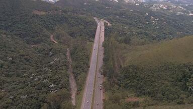 BR-040 tem trânsito tranquilo na manhã desta quarta-feira - Rodovia liga Belo Horizonte às cidades históricas e também ao Rio de Janeiro.