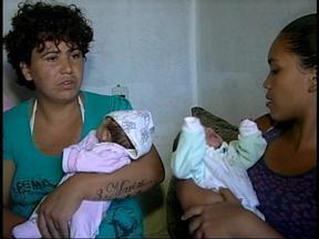 Família com seis filhos passa por sérias dificuldades em Uruguaiana, RS - Mãe teve trigêmeos no final ano passado e agora falta dinheiro para o sustento.
