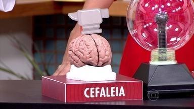 Cefaleia tensional é a dor de cabeça mais comum - O neurologista Luis Otávio Caboclo explica que a cefaleia tensional é uma dor em peso, que acomete toda a cabeça e normalmente aparece no final da tarde. Já a enxaqueca é uma dor latejante, que atinge mais um lado da cabeça.