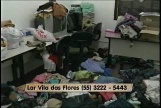 Lar Vila das Flores, Santa Maria,RS, precisa de doações de alimentos e produtos de limpeza - O Lar foi arrombado na noite da última terça-feira.