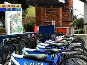 Na Festa da Uva, bicicletas estão disponíveis para o público para passeio no parque - Serviço deve continuar depois do evento.