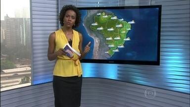 Veja a previsão do tempo para esta segunda-feira (10) em todo o país - A previsão é de chuva passageira para as áreas de represas de Minas e São Paulo. O tempo vai ficar firme em Roraima, em uma parte do Amazonas, no Pará e no Amapá. Chove forte entre o noroeste de São Paulo, Acre e centro do Piauí.