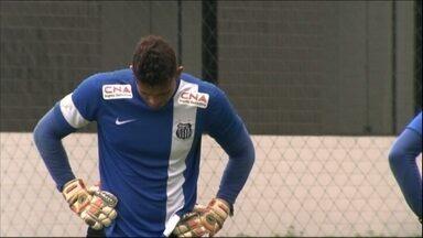 Com Aranha machucado, Santos conta com reserva experiente no gol - Há sete anos no Peixe, Vladimir defenderá a meta do time no próximo jogo