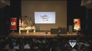 Prêmio Estandarte Santista é entregue em Santos, SP - Prefeito Paulo Alexandre Barbosa acompanha o evento.