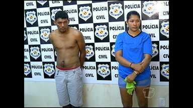Casal é preso por tráfico de drogas - Um rapaz também acusado de ser traficante e outro suspeito de assalto também foram presos.