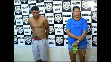 Casal preso por envolvimento com o tráfico de drogas é transferido para presídio - Polícia investiga envolvimento do homem em assalto a posto de combustível.