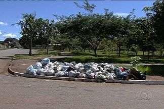 Força tarefa recolhe lixo acumulado nas ruas de Goiânia - Mais de duas mil toneladas foram retiradas da rua. Serviçao de coleta só deve ser normalizado na próxima semana.