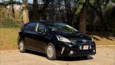 Veja o carro de uma família brasileira na Europa - O marido mora na França, mas trabalha na Suíça, e percorre este trajeto com o Prius Plus, um carro híbrido que recebe incentivo fiscal do governo francês.