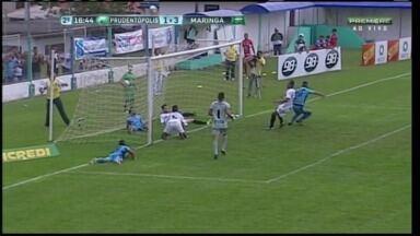 Cabixi perde gol incrível durante jogo do Prudentópolis x Maringá, pelo Paranaense - Cabixi perde gol incrível durante jogo do Prudentópolis x Maringá, pelo Paranaense