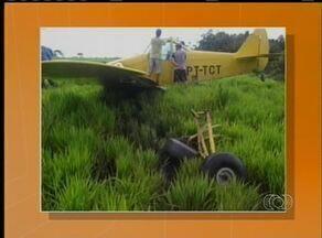 Aeronave agrícola faz pouso forçado no sul do estado - Aeronave agrícola faz pouso forçado no sul do estado.