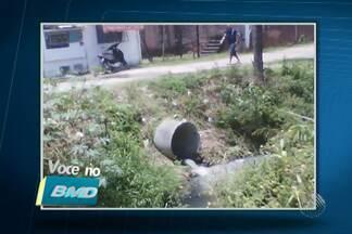 Telespectadores enviam fotos de esgoto em bairros de Salvador - Imagens foram enviadas através do colaborativo VC no BMD.