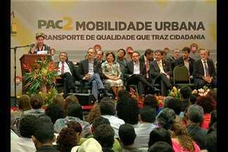 Presidenta Dilma anuncia em Belém investimentos em obras de mobilidade urbana - Anúncio foi feito em evento oficial nesta quinta (20). A autoridade embarcou há pouco para Marabá.